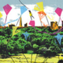 'Primrose Hill' Original Screen Print Flying Kites