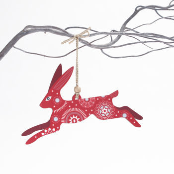 Christmas Hare Tree Decoration