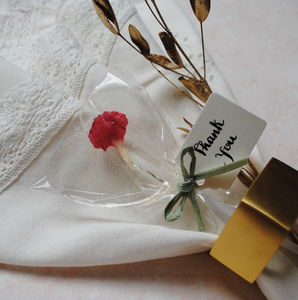 Set Of 10 Gin Personalised Edible Flower Lollipops - wedding favours