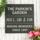 Personalised Garden Engraved Slate Sign
