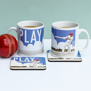 Cricket Mug And Coaster Set