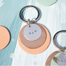 Personalised Metal And Leather Keyring