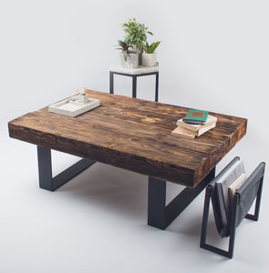 Metal And Wood Coffee Table - furniture