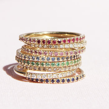 Gold Or Silver Eternity Rings