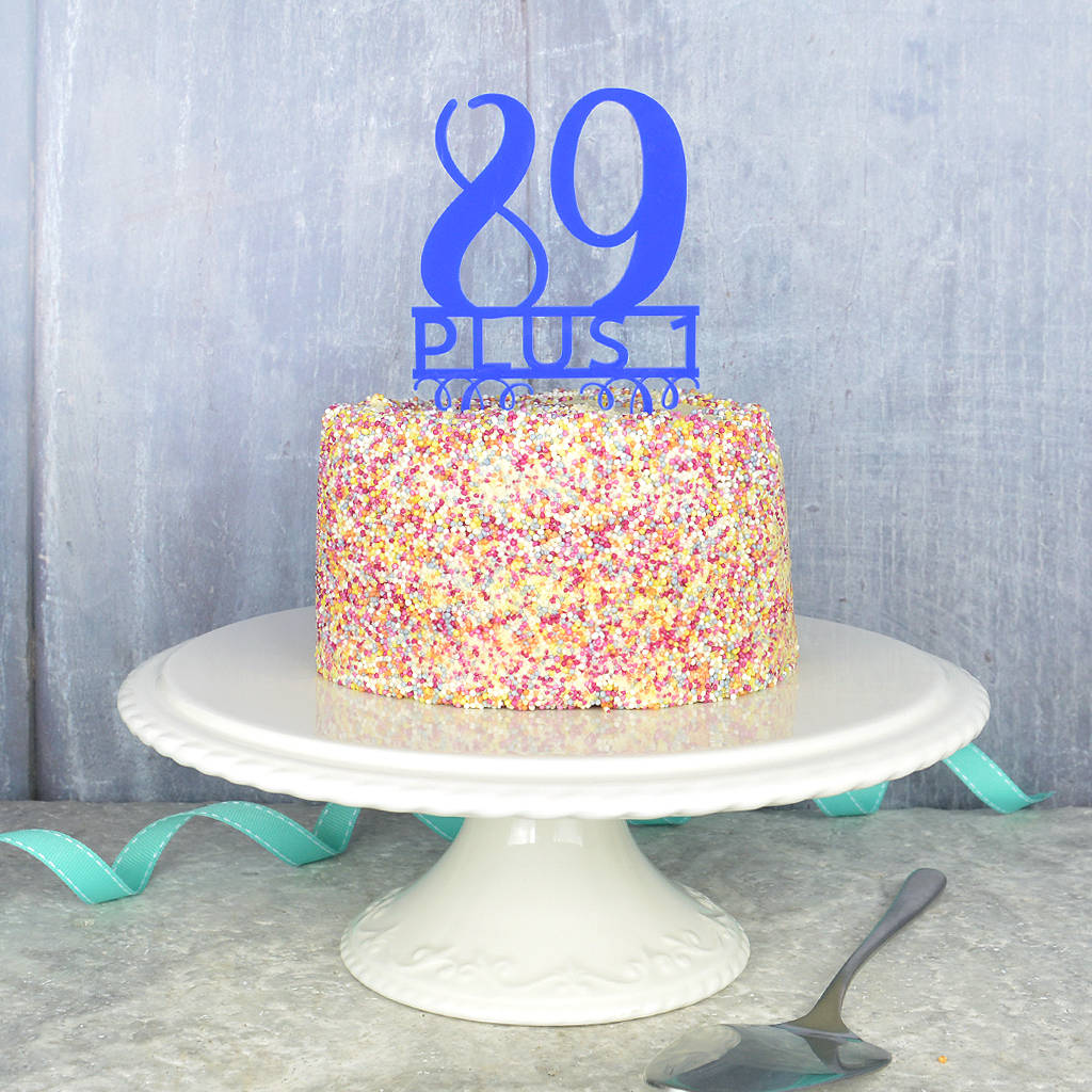 90th birthday cake topper by pink and turquoise notonthehighstreetcom
