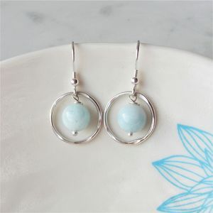 Aquamarine Earrings - march birthstone