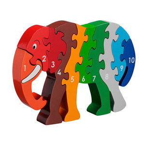 Wooden Fair Trade Number Jigsaw Puzzles - traditional toys & games