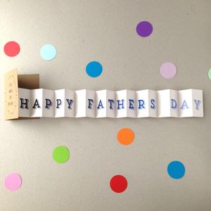 Fathers Day Conertina Card