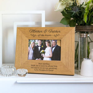 Personalised Mother And Father Of The Bride Photo Frame - picture frames