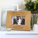 Personalised Mother And Father Of The Bride Frame