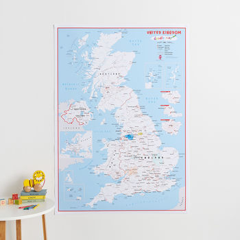 UK Doodle Map With Crayons