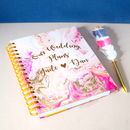 Personalised Our Wedding Plans Planner