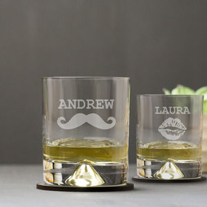 Personalised Engraved Tumbler Set - for him