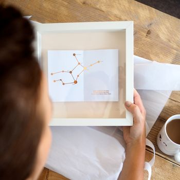 Personalised Constellation And Quote Framed Picture