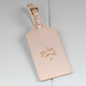 Personalised 'Just Married' Luggage Tag For Newlyweds - view all