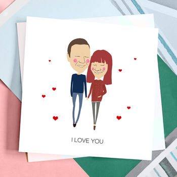 Personalised Valentines Couple Card