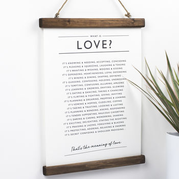 Love And Engagement Poem Print