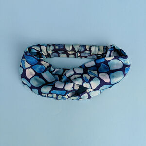 Geo Pattern Silk Satin Headband