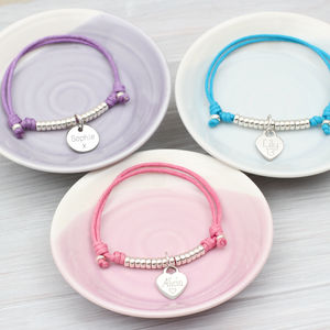 Girl's Personalised Sterling Silver Friendship Bracelet - christening jewellery