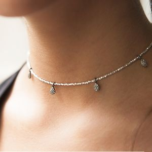 Pave Diamond Teardrop Nugget Choker - view all new