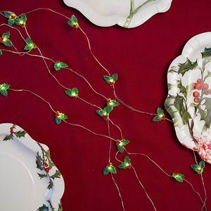 Christmas Holly Fairy Lights