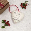 We Wish You A Merry Christmas Ceramic Bauble