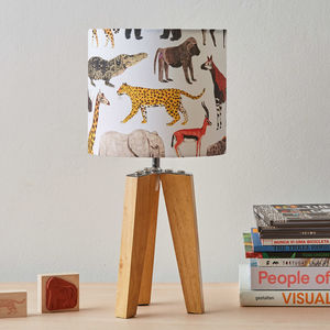 Small Safari Animals Lampshade - children's lighting