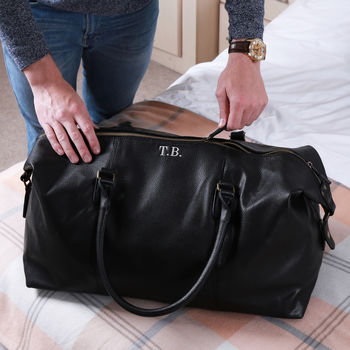 Personalised Weekend Holdall With Shoulder Strap