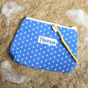 Personalised Zipped Wash Bags - make-up bags