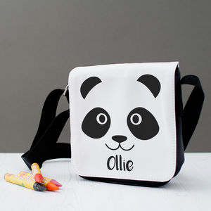Personalised Children's Panda Messenger Bag