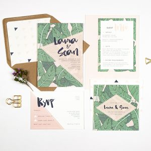 Banana Leaf Wedding Invitation - invitations