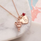 Rose Gold Fairy Godmother Personalised Necklace - fine jewellery