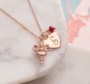 Rose Gold Fairy Godmother Personalised Necklace - for friends