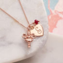 Rose Gold Fairy Godmother Personalised Necklace