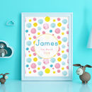 Personalised Watercolour Baby Print
