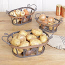 Set Of Three Country Kitchen Storage Baskets