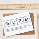 Funny Elements Of A Brother Card