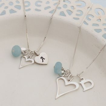 Mama Et Moi Personalised Open Heart Necklaces