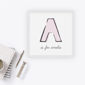 Personalised Name Alphabet Card