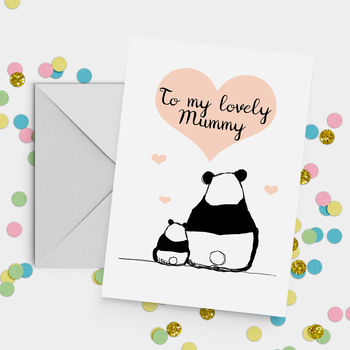 'My Lovely Mummy' Panda Mother's Day Card