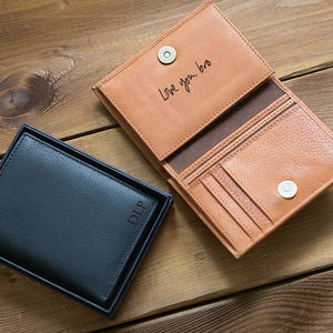 Personalised Men's Leather Wallet With Coin Pocket - original gifts for him