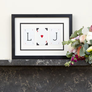 Personalised Couples Initial Wedding Frame - typography