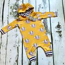 Organic Cows Hooded Romper