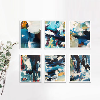 Set Of Six Abstract Art Poster Art A3 A4 A5 Print Set
