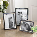 Black Enamel And Silver Photo Frame