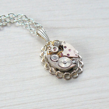 Filigree Watch Movement Necklace
