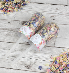 Cottage Garden Personalised Wedding Confetti Pops - table decorations