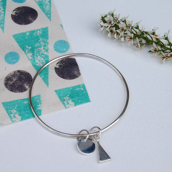 Sterling Silver Farm Forest Bangle