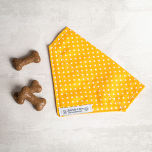 Yellow Slide On Collar Dog Bandana/Scarf - new in pets