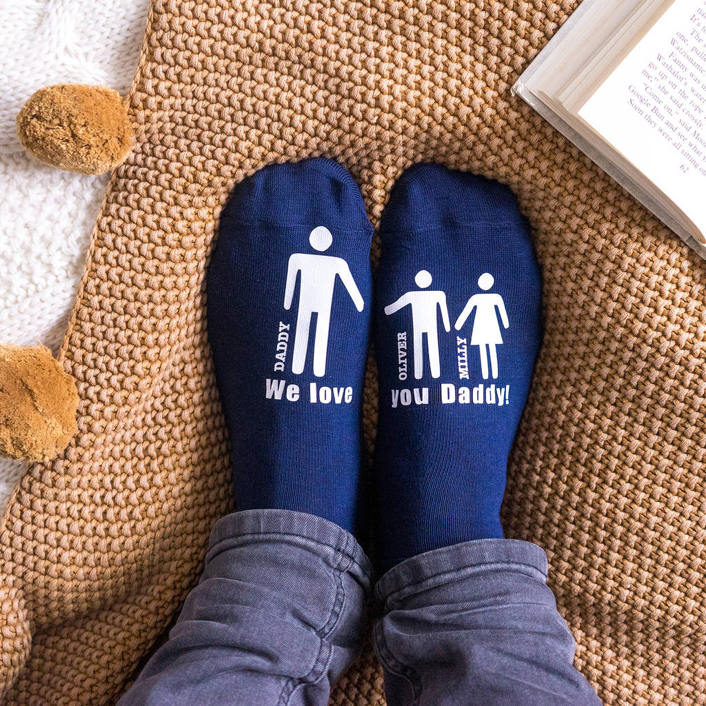 e1a06ddd70332 personalised my daddy and me men's socks by sparks and daughters ...